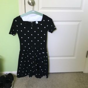 Cute H&M Black and White Polka Dot Skater Dress